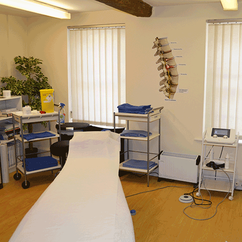 Treatment room in Alistair Miller's Chiropractic Clinice, Romsey